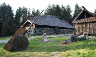 Viking longhouse at Avaldsnes in Norway