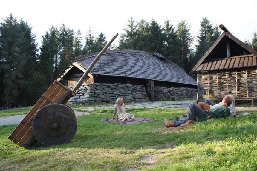Viking longhouse at Avaldsnes in Norway