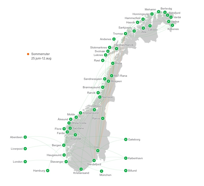 Widerøe destinations in Norway: A complete route map