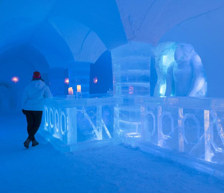 The ice bar at Alta's Sorrisniva Igloo Hotel
