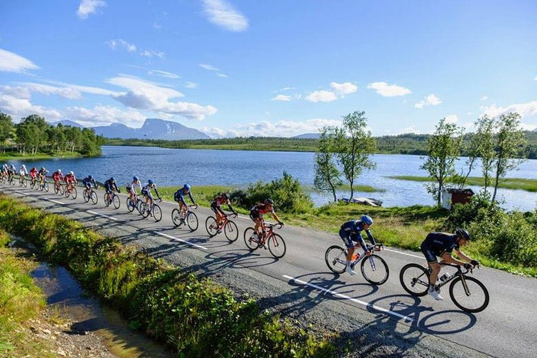 Arctic Race of Norway cyclists