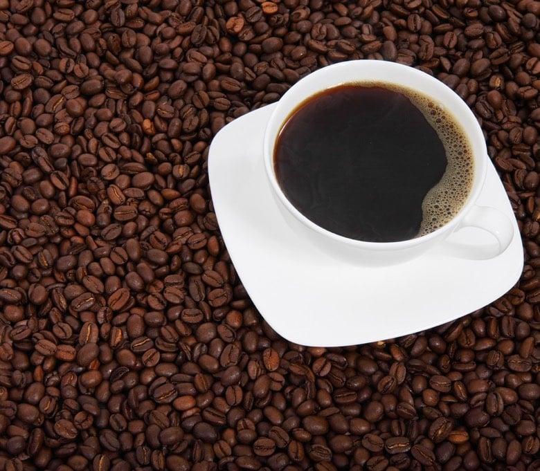 Black coffee breakfast