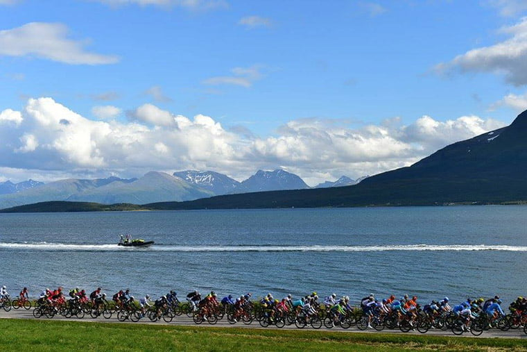 A cycle race in Northern Norway