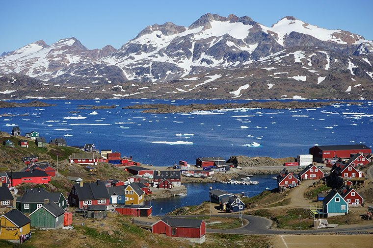 A community on the east coast of Greenland