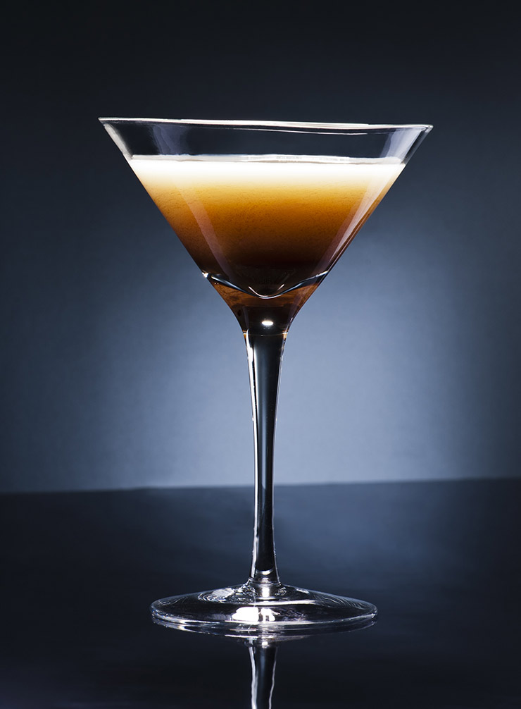 An espresso martini can be given an interesting spicy twist by replacing some of the vodka with aquavit, the Scandinavian spirit.