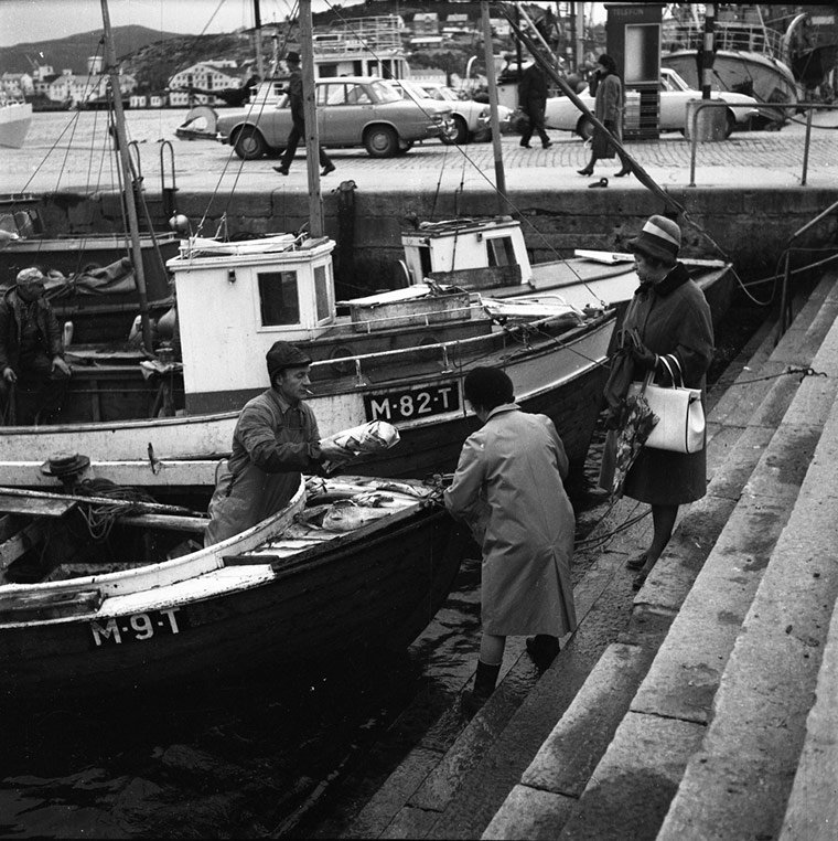 Historic fishing port in Kristiansund