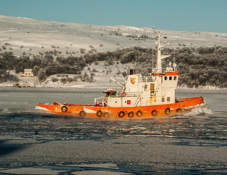 An icebreaker in Kirkenes port