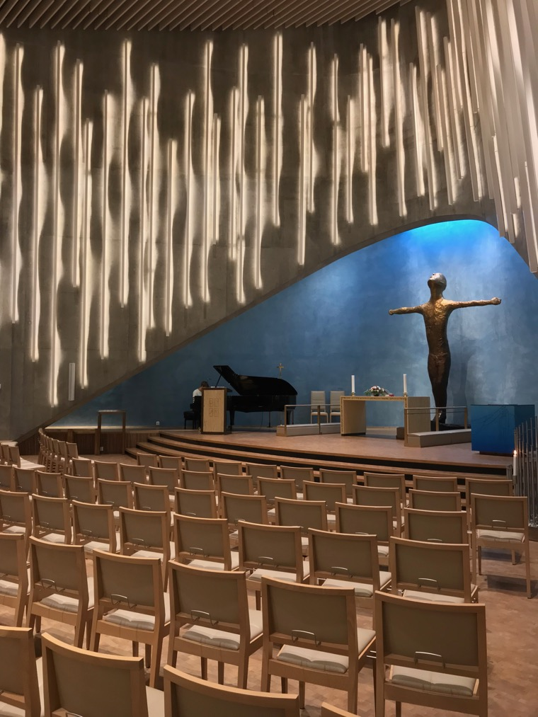 Inside Alta's Northern Lights Cathedral