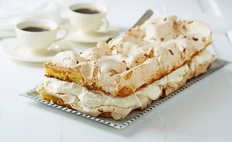 The meringue, vanilla cream and almond-packed sponge cake known as Kvæfjordkake is known in Norway as the world's best cake!