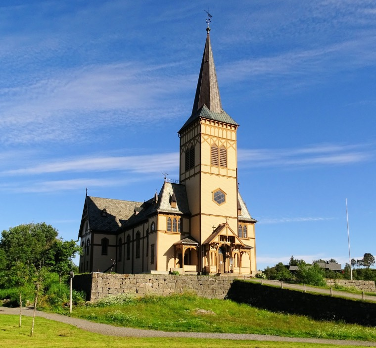 Vågån Church is known locally as Lofoten Cathedral and is the largest wooden church in northern Norway