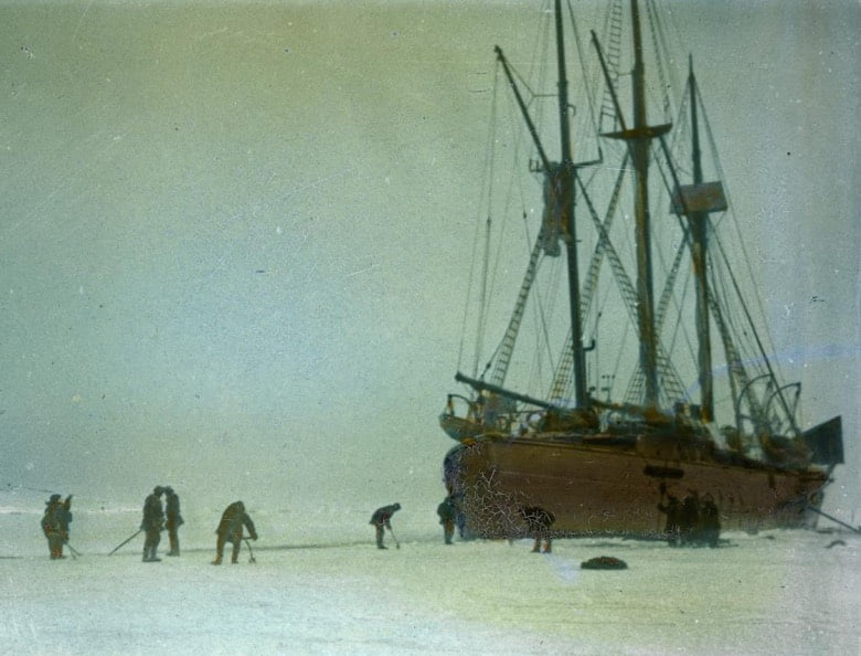 Maud on its Arctic expedition