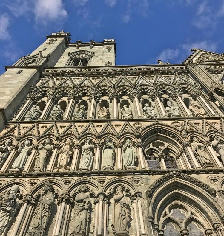 Nidaros Cathedral close-up