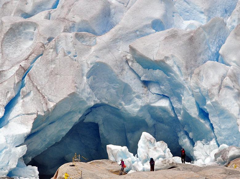 Nigardsbreen glacier cave