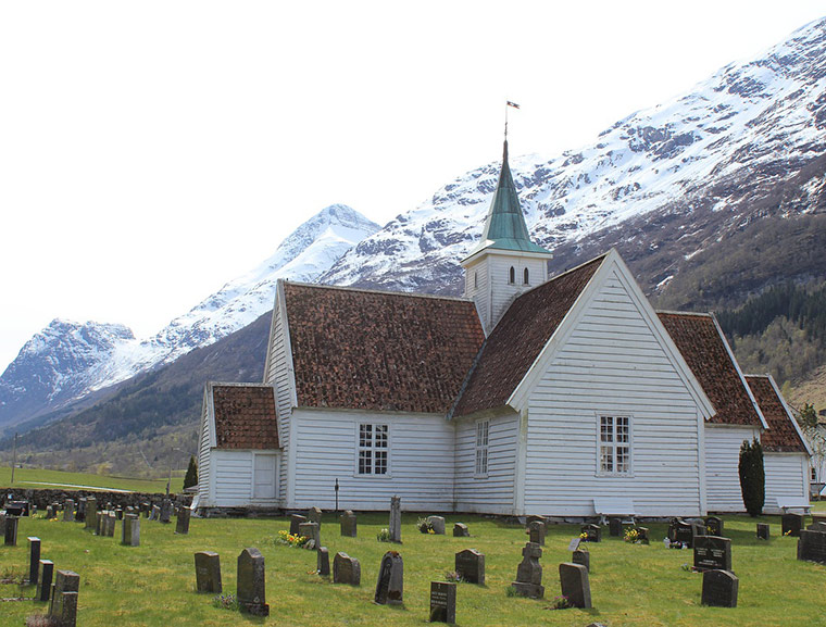 The old church in Olden, Norway