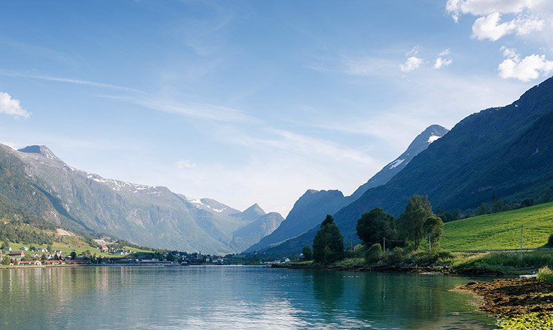 The village of Olden on the Nordfjord in Norway