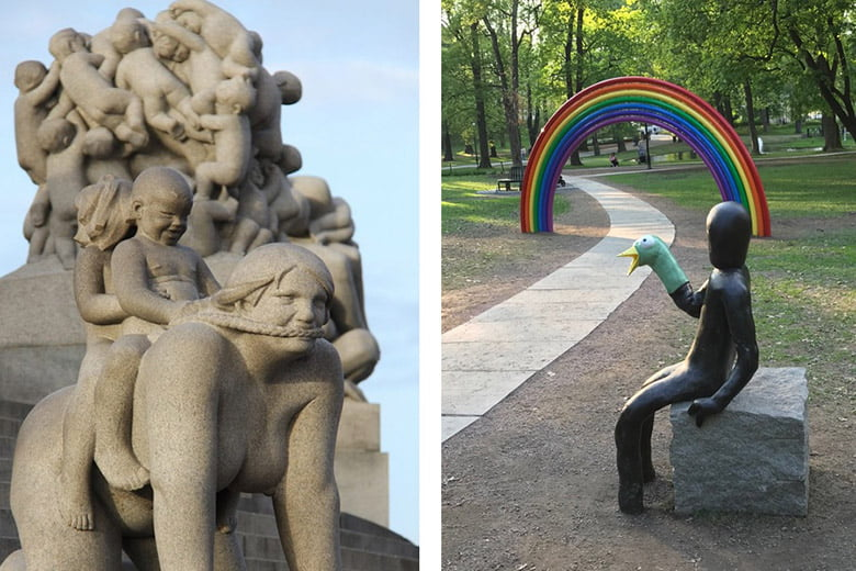 The Sculpture Parks of Oslo, Norway