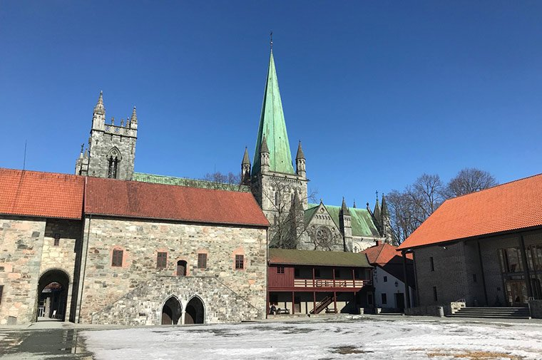 Archbishop's Palace in Trondheim, Norway