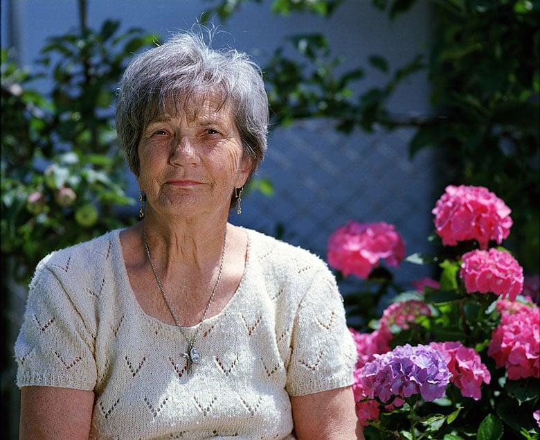 An elderly woman in Scandinavia
