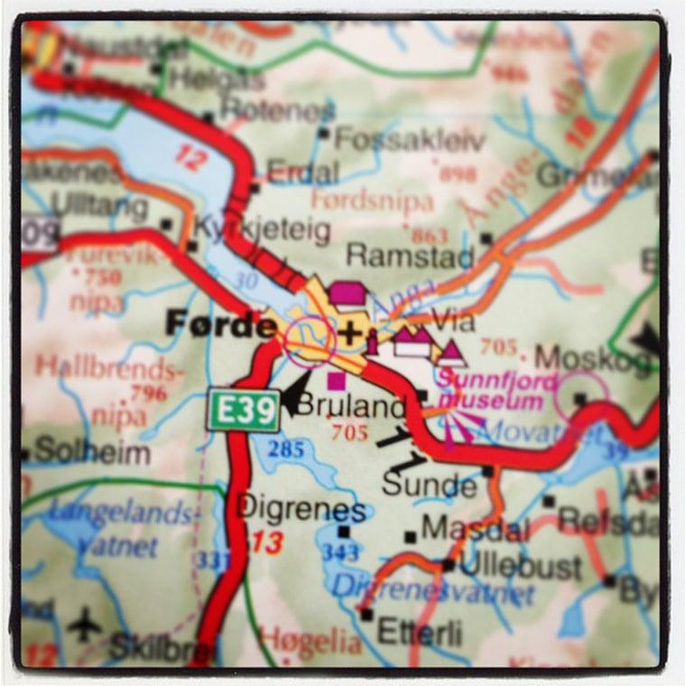 Førde map