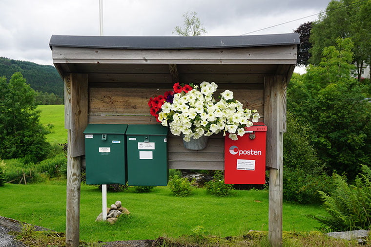 Neat Norwegian mailboxes