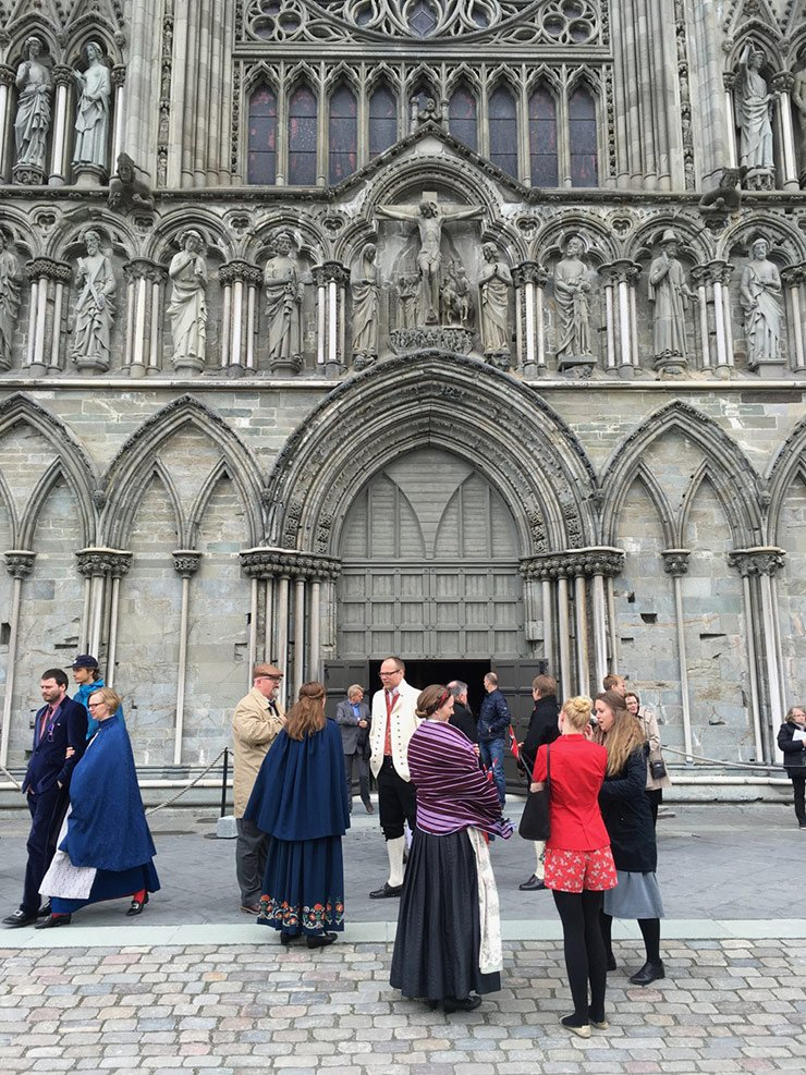 Nidaros Cathedral on 17th May