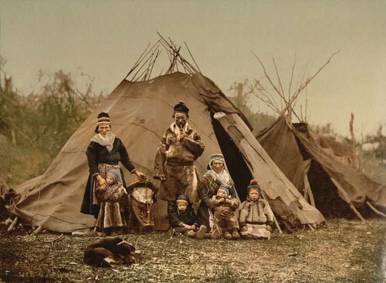 A nomadic Sami family portrait