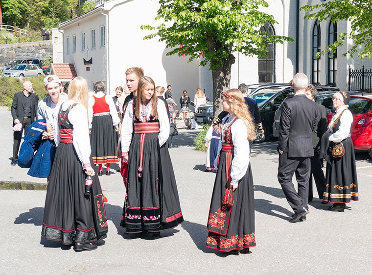 Norwegian bunad on 17th May