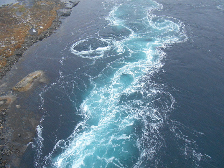 The Saltstraumen maelstrom at its height