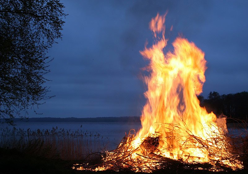 A Swedish bonfire