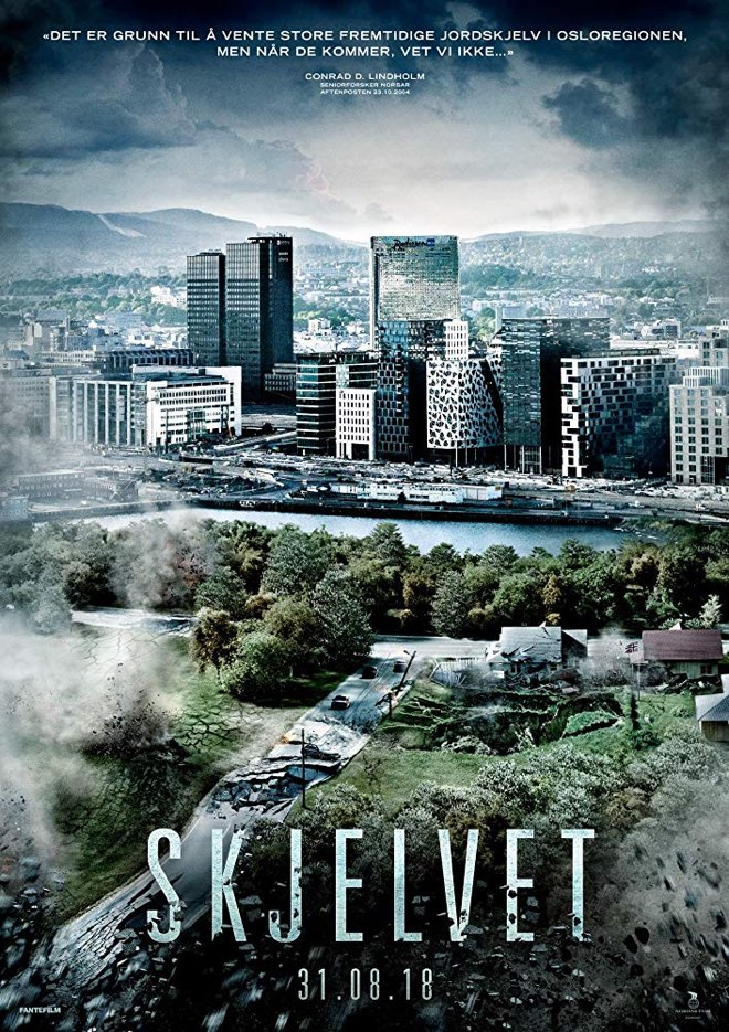 Norwegian movie poster for Skjelvet