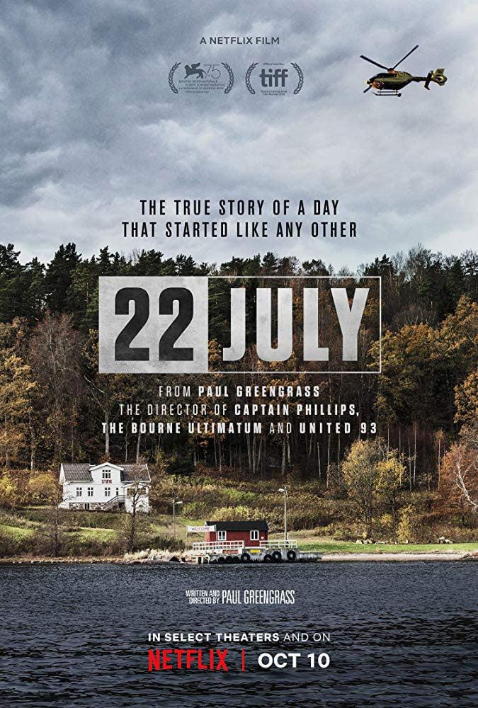 22 July Netflix movie poster