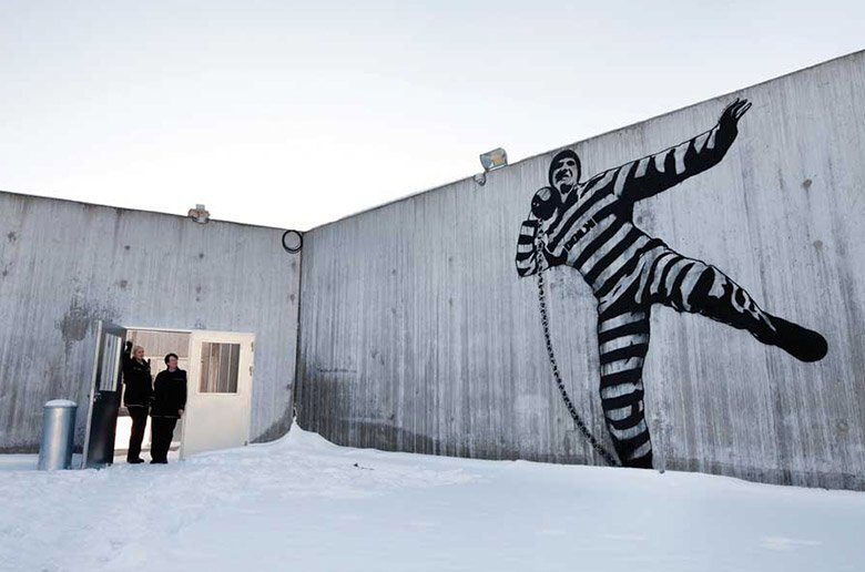 Artwork inside Halden prison