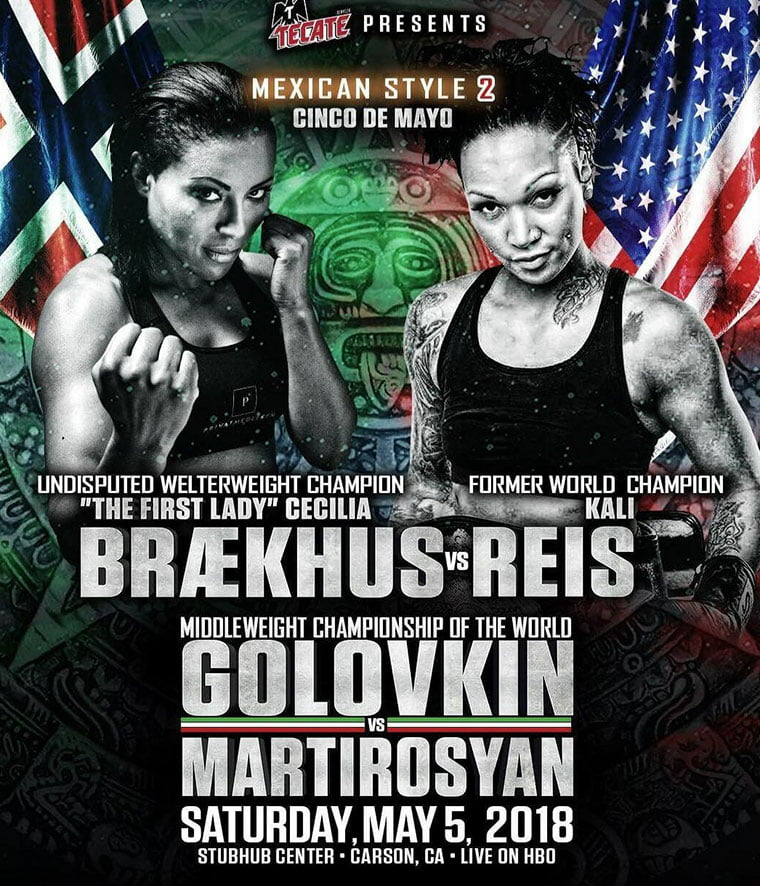 Cecilia Brækhus promotional poster for a boxing match