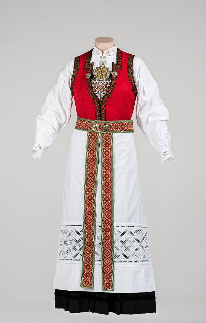The traditional bunad of Hardanger is one of the best-known regional varieties of Norway's national dress