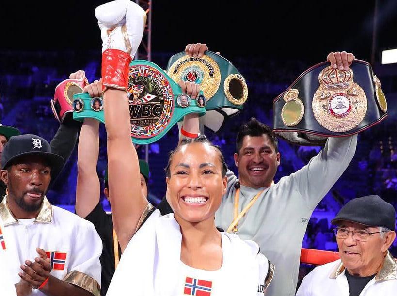 The unbeaten Norwegian female boxer Cecilia Brækhus