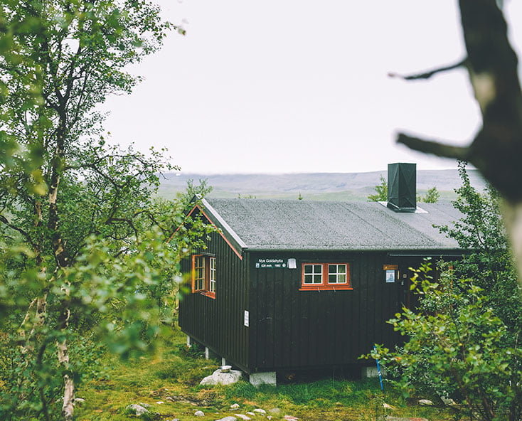 A typical DNT cabin in northern Norway