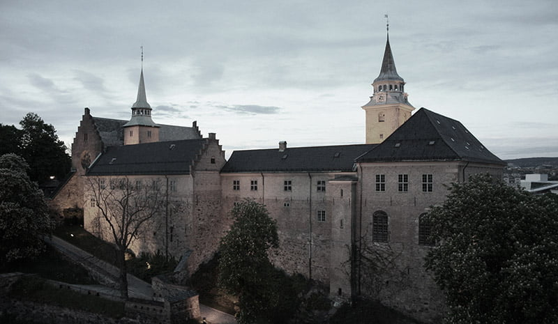 Haunted Akershus Castle in Oslo. Norway