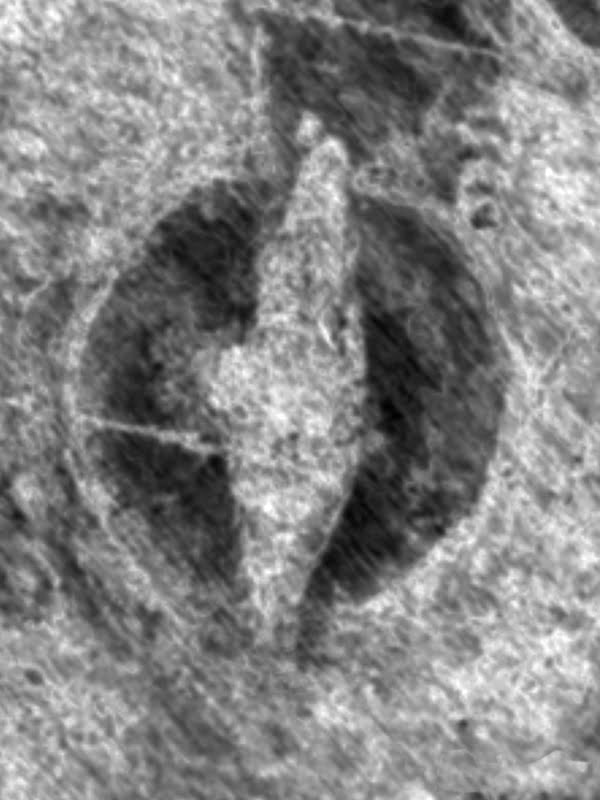 The initial scan of the find at Jellestad