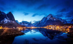 Reine in the picturesque Lofoten Islands of Norway