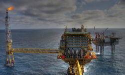 North sea oil rig