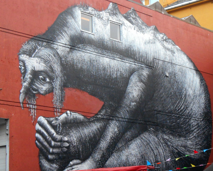 Phlegm, one of the murals in Bodø, Norway