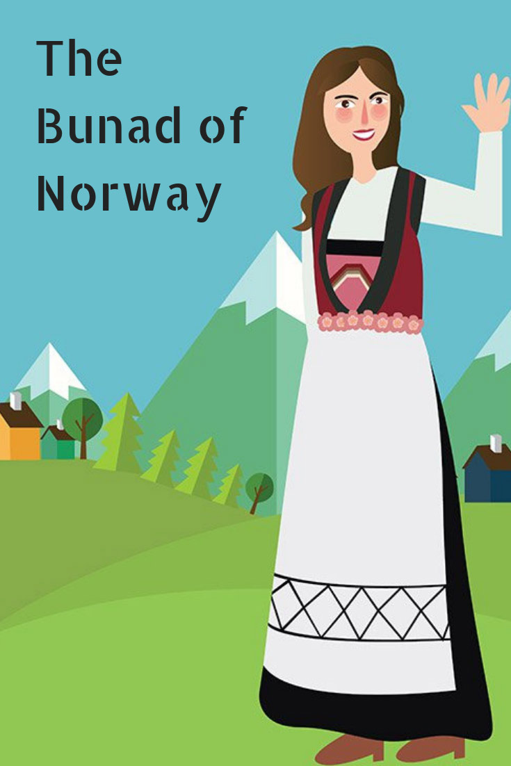 The bunad of Norway is the national dress commonly worn on May 17th, Norway's national day