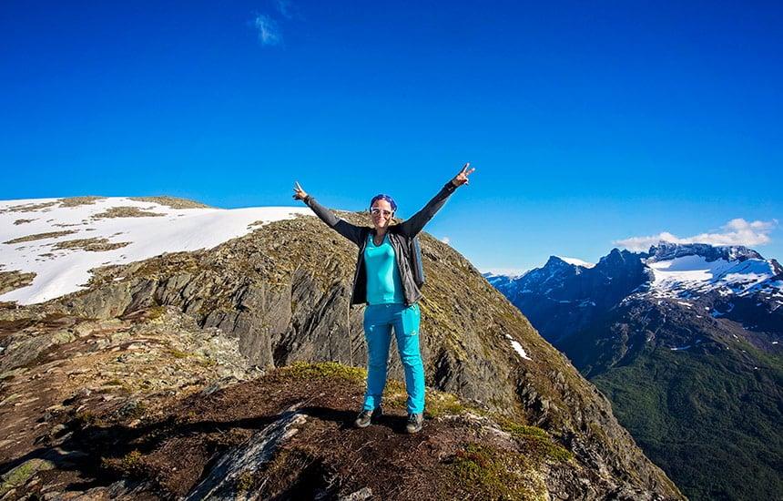 Romsdalseggen hike in Norway