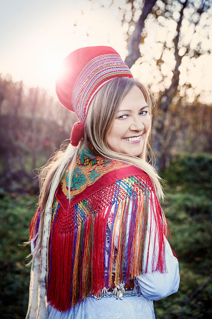 The Norwegian sami singer Mari Boine