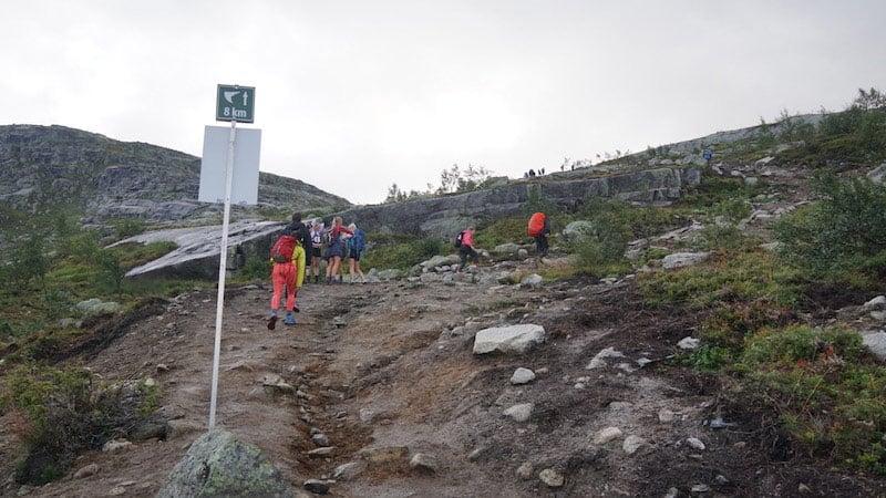 The Trolltunga hike can be tough