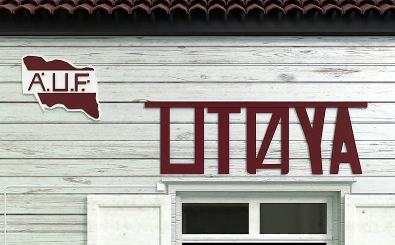 A sign on Utøya Island in Norway