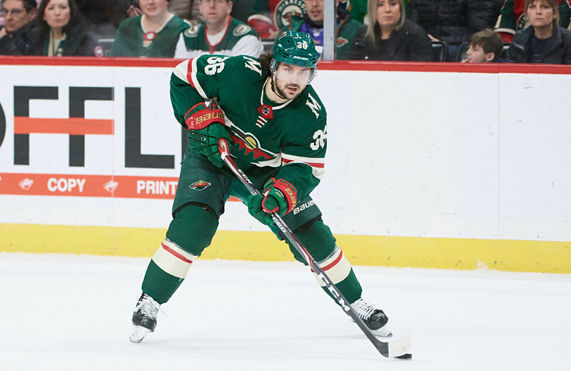 The Norwegian ice hockey player Mats Zuccarello playing for Minnesota Wild