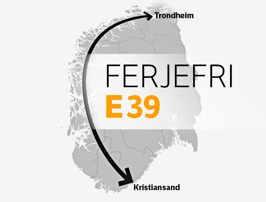 Ferry-free E39 route in Norway