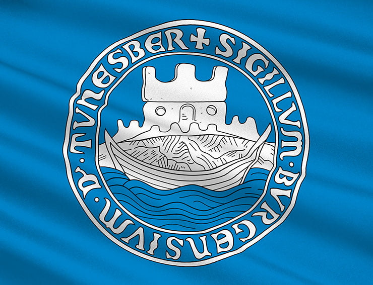Flag of Tønsberg in Norway