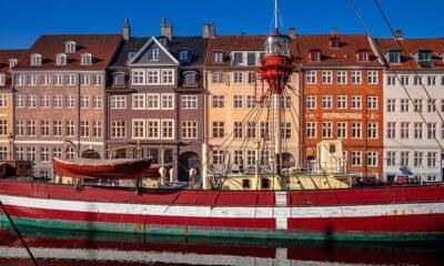 Iconic scene of Copenhagen in Denmark
